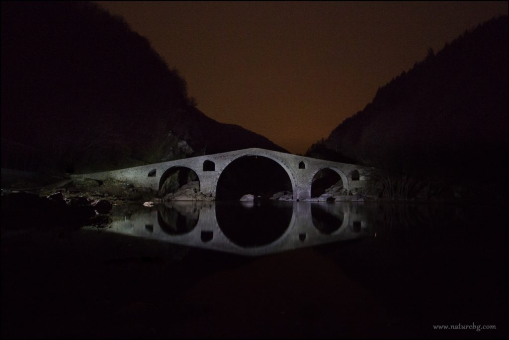 Devil's bridge at night